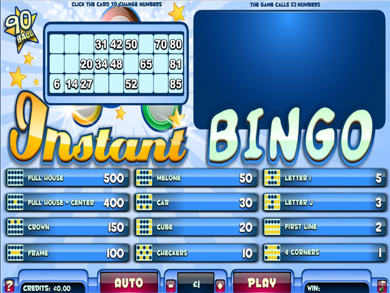 instant bingo