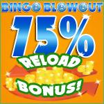 75% Reload Bonus at Bingo Blowout